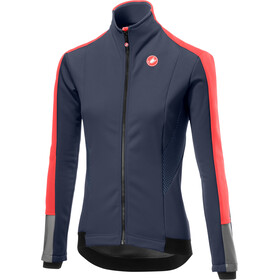 Castelli Mortirolo 3 Jacket Dame dark steel blue/brilliant pink